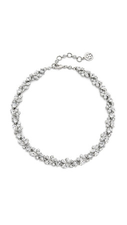 Ben-Amun Crystal Wreath Necklace - Crystal