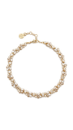 Ben-Amun Crystal Wreath Ombre Necklace - Ombre Shadown Crystal Gold
