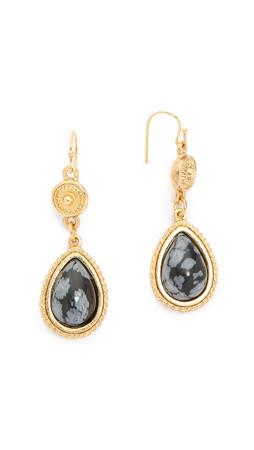Ben-Amun Dangle Earrings - Gold/Black