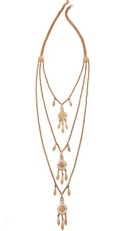 Ben-Amun Dreamcatcher Layered Necklace - Gold