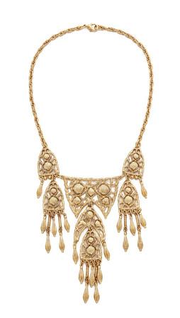 Ben-Amun Dreamcatcher Statement Necklace - Gold