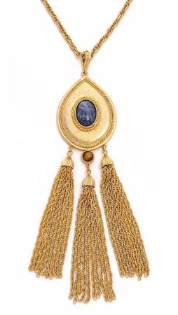 Ben-Amun Long Tassel Necklace - Gold/Multi