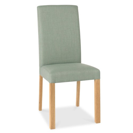 Bentley Designs Pair of Parker Dining Chairs in Aqua and Oak