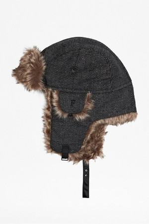 Billy Bob Trapper Hat - Black/White