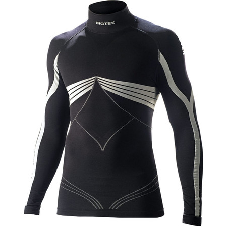 Biotex Bioflex Warm Compression Long Sleeve Base Layer - I Black