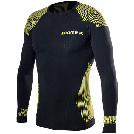 Biotex Bioflex Warm Hightech Seamless L/S Base Layer - II Black/Neon