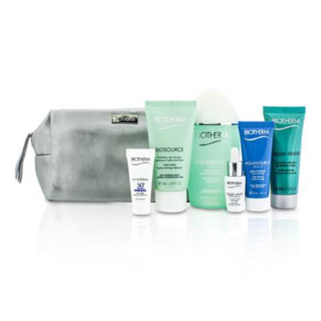 Biotherm Travel Set: Aquasource Lotion + Cleanser + Corrector + Celluli Eraser + UV Supreme + Aquasource Nuit Jelly + Bag 6pcs+1bag