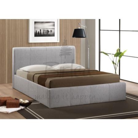Birlea Furniture Brooklyn Fabric Small Double Ottoman Bed in Grey