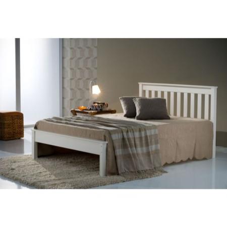 Birlea Furniture Denver King Size Bed In Ivory