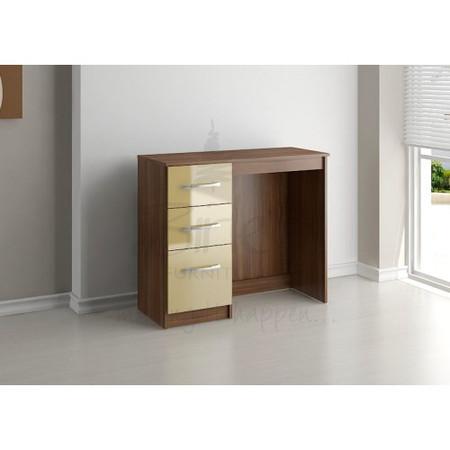 Birlea Furniture Lynx & 3 Drawer Dressing Table in walnut/cream