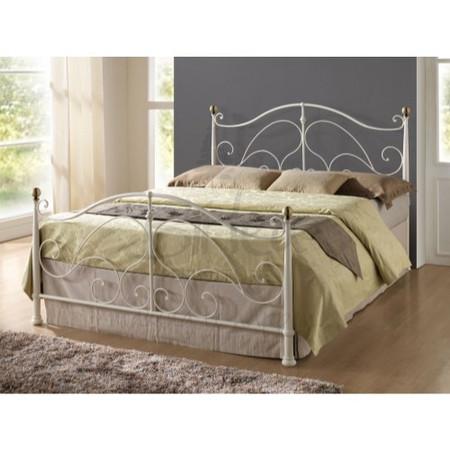 Birlea Furniture Milano Metal Double Bed in Cream