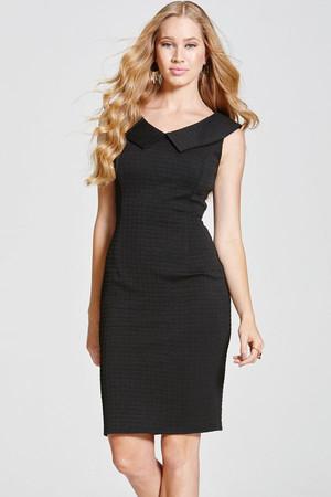 Black  Collar Bodycon Dress