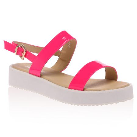 Blaize Fuschia Pink Flatform Sandal