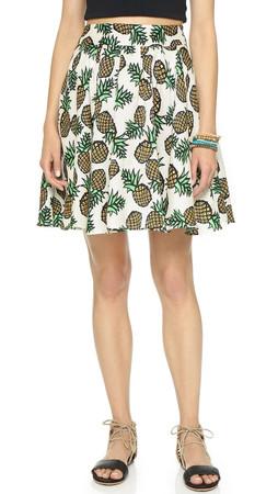 Blaque Label Pineapple Circle Skirt - White