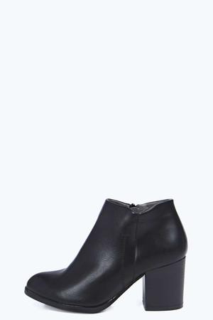Block Heel Pointed Toe black
