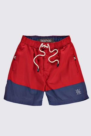 Block Swim Shorts red