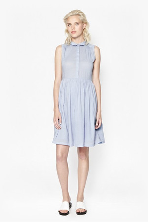 Bloom Cotton Dress - LIGHT FOREVER BLUE