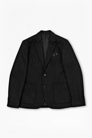 Boiled Wool Blazer - Grey