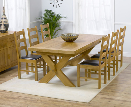 Bordeaux 200cm Extending Dining Table with 6 Vermont Chairs
