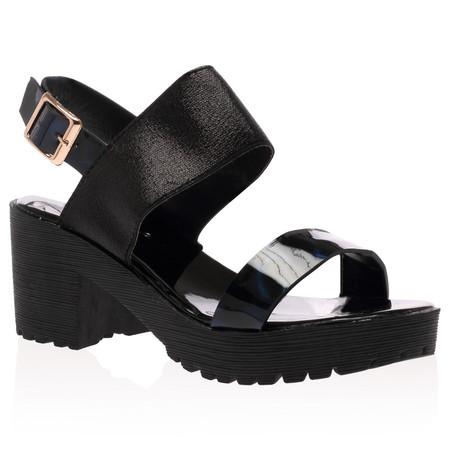 Brooke Black Block Heel Sandals