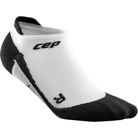 CEP Women's No Show Socks () - Large White/Black | Running Socks