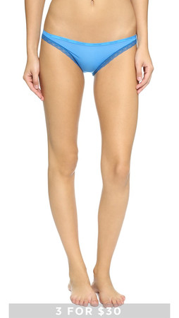 Calvin Klein Underwear Bottoms Up Bikini Briefs - Aquarium W/Blue River Lace