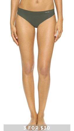 Calvin Klein Underwear Invisibles Thong - Valley