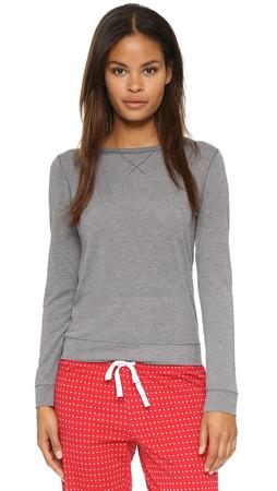 Calvin Klein Underwear Liquid Lounge Pajama Top - Grey Heather