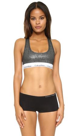 Calvin Klein Underwear Modern Cotton Bralette - Black Foil