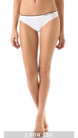 Calvin Klein Underwear Seamless Bikini Briefs - White