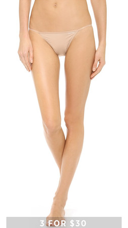 Calvin Klein Underwear Sleek String Bikini Panties - Bare