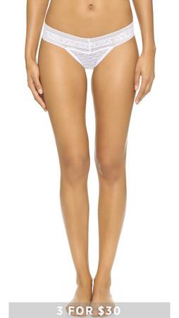 Calvin Klein Underwear Stretch Lace Bikini Briefs - White