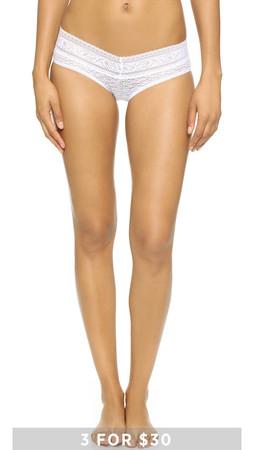 Calvin Klein Underwear Stretch Lace Hipster - White