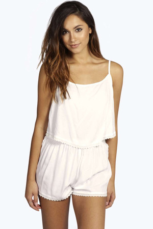 Cami & Shorts Night Set white