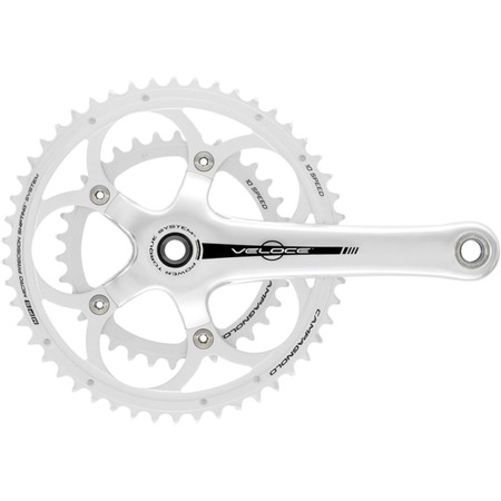 Campagnolo Veloce 10 Speed Power Torque Compact Chainset - Silver