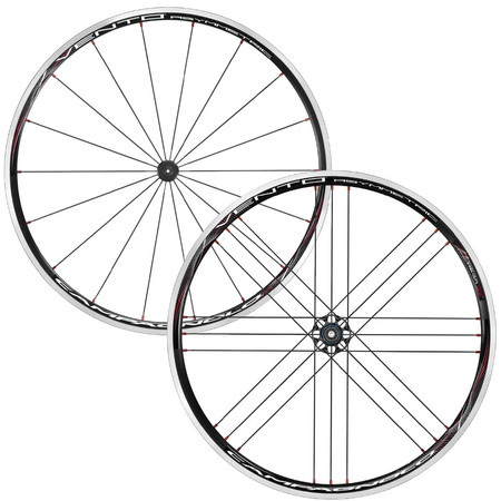 Campagnolo Vento Asymmetric G3 Wheelset - Campagnolo 9/10/11 Black
