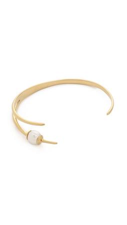 Campbell Tri Talon Cuff Bracelet - Gold/Pearl