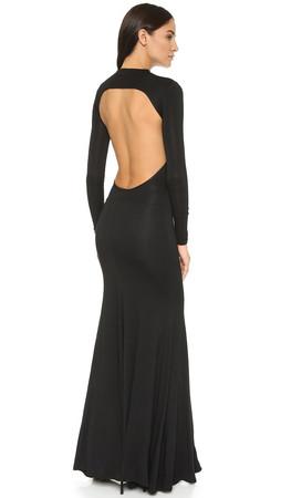 Caroline Constas Victoire Backless Dress - Black