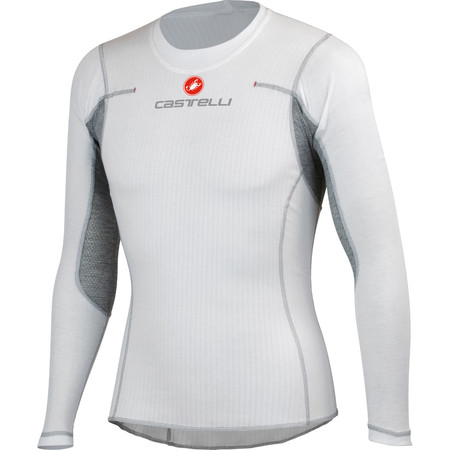 Castelli Flanders Long Sleeve Base Layer - X Small White | Base Layers
