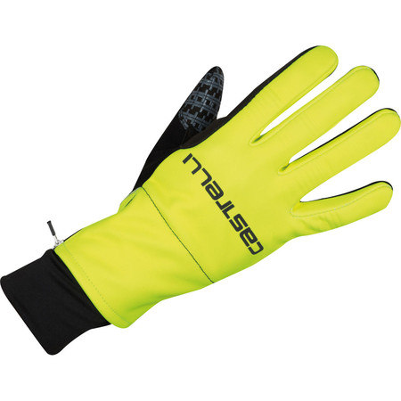 Castelli Gara Midweight Gloves - Medium Yellow Fluo/Black
