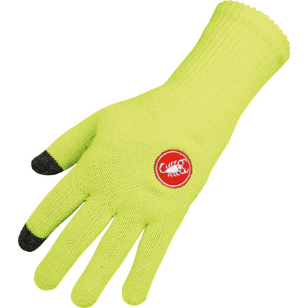 Castelli Prima Glove - Large/X-Large Yellow Fluo | Winter Gloves