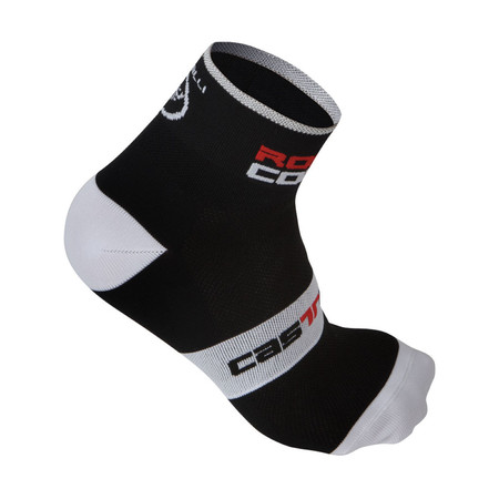 Castelli Rosso Corsa 6 Cycling Socks - Large/X-Large Black