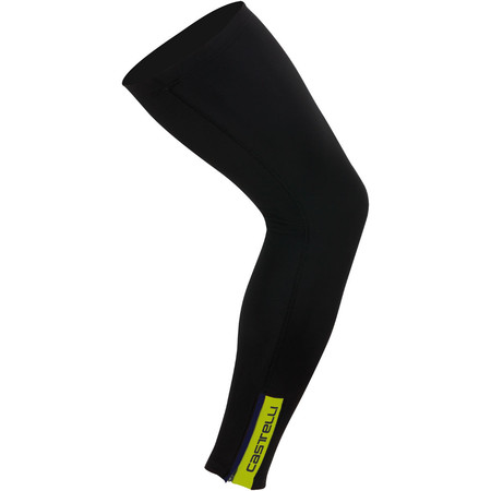 Castelli Thermoflex Leg  Warmer - Small Black/Yellow Fluo