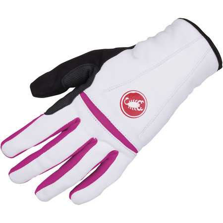 Castelli Women's Cromo Gloves AW14 - Medium White/Magenta