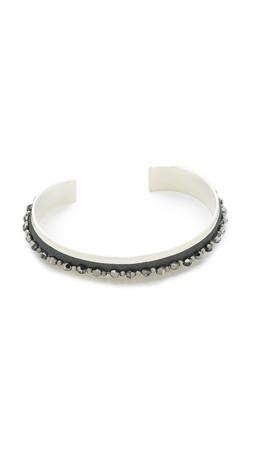 Chan Luu Beaded Cuff Bracelet - Silver Night