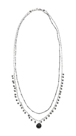 Chan Luu Beaded Layered Necklace - Black Mix