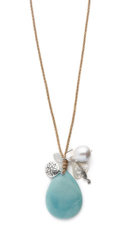 Chan Luu Braided Charm Necklace - Mint Mix