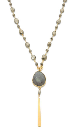 Chan Luu Pendant Beaded Necklace - Pyrite