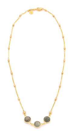 Chan Luu Trio Stone Necklace - Labradorite