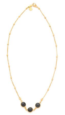 Chan Luu Trio Stone Necklace - Onyx